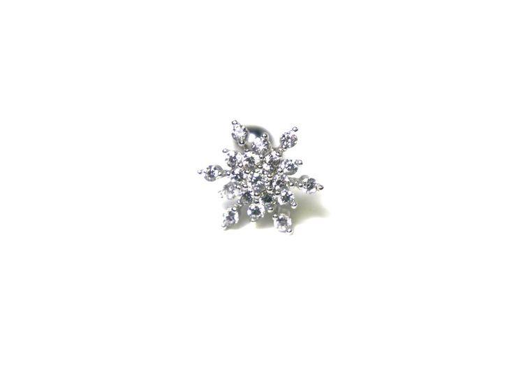 Snowflake Piercing, 16 gauge earring, tragus earring, cartilage earring, tragus jewelry, cartilage piercing, tragus, cartilage, 101 by SmallTalkJewelry on Etsy https://www.etsy.com/listing/178904482/snowflake-piercing-16-gauge-earring