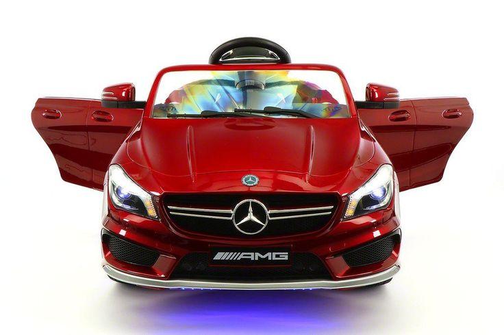 Mercedes Benz CLA45 Kids Ride On Car Toy MP3,USB,12V Bat,Powered Wheels R/C Cherry