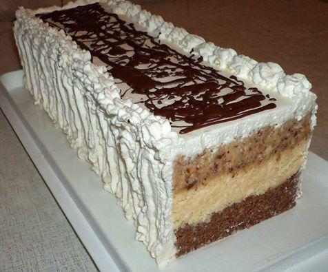 Ova torta je postala apsolutni hit, svi su mi tražili recept  Sastojci  1 l mlijeka  2 pudinga od vanilije  250 gr šećera  3 vanilijin še...