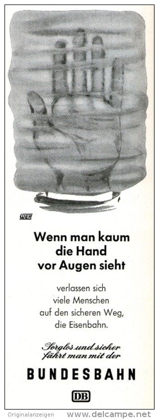 Original-Werbung/Anzeige 1957 - DEUTSCHE BUNDESBAHN -  ca. 80 x 230 mm