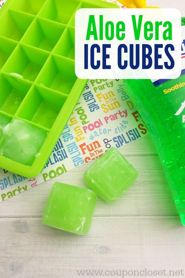 Can you freeze aloe vera gel? YES! How to Treat a Bad Sunburn!  Make Aloe Vera Ice Cubes to help relieve the sunburn.