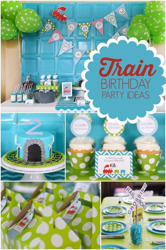 Modern Train Themed Birthday Party Ideas