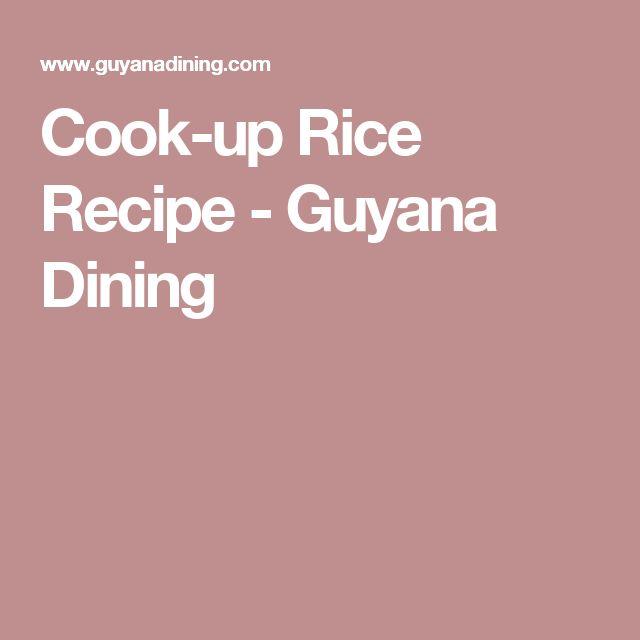 Cook-up Rice Recipe - Guyana Dining