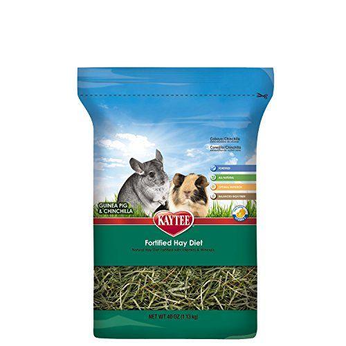 Kaytee Fortified Hay Diet Guinea Pig and Chinchilla Food, 40-oz bag