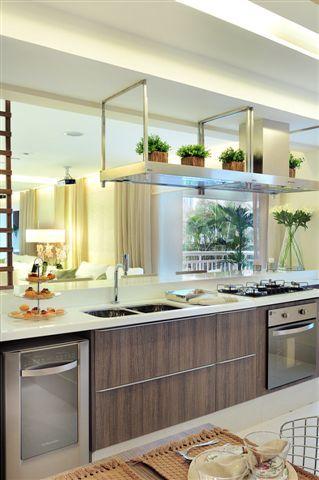Cozinha americana - Apartamento Decorado 107m² - Cyrela #quitetefaria