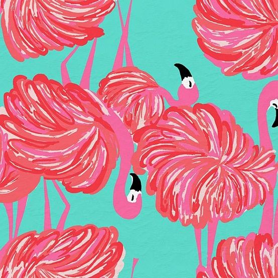 pink and turquoise flamingo print by Lilly Pulitzer ...