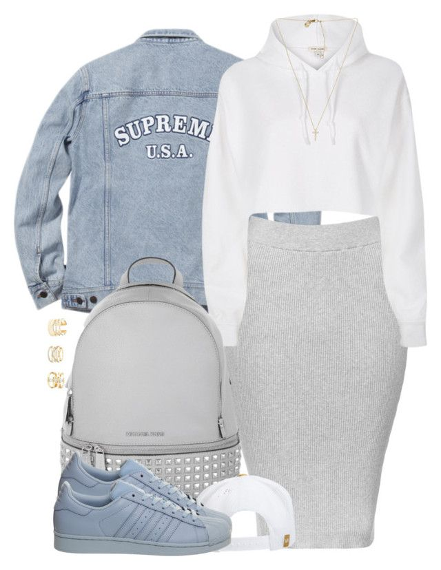 """""""I was good on my own, that's the way it was."""" by cheerstostyle ❤ liked on Polyvore featuring Topshop, River Island, Michael Kors, RVCA, adidas and Charlotte Russe"""