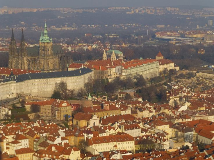 view over Prague from Radio Tower
