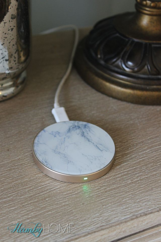 Champagne and Marble Wireless QI Phone Charger