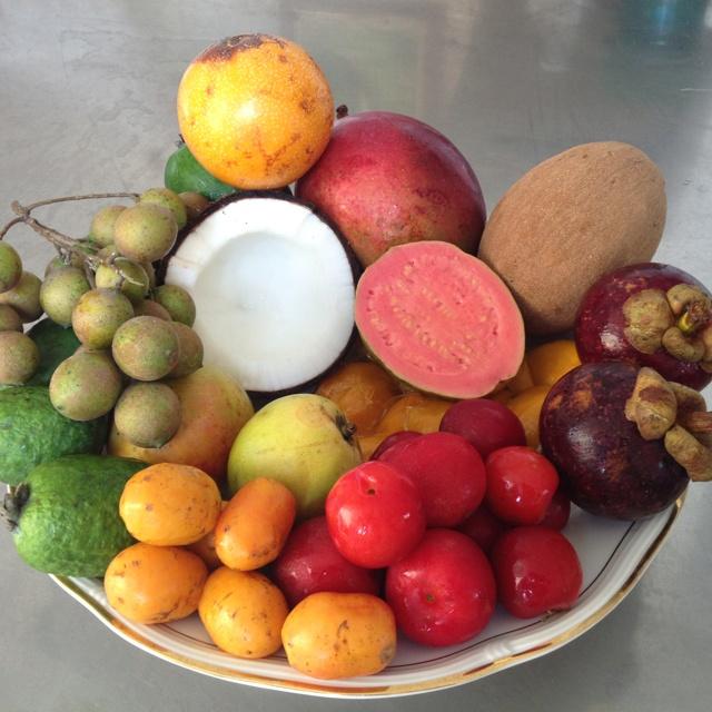 Tropical fruits from Colombia!!!  Coco,mamoncillos,zapote,ciruela,maracuya,guayaba,cereza.
