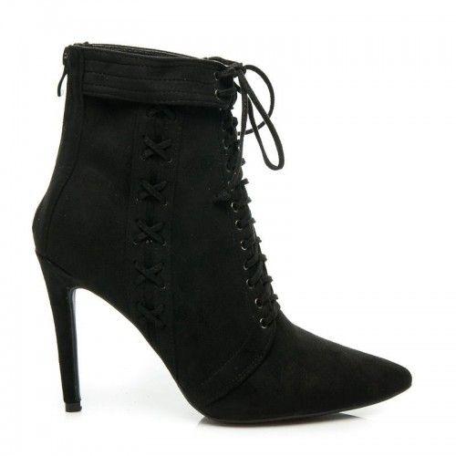 Dámské boty na podpatku Krozbeny černé – černá Nedáme dopustit na naše boty na podpatku, protože jsou krásné a nás dělají vyšší. Boty s jehlovým podpatkem se zapínají pomocí zipu i šněrovačky. Semišové botičky s …