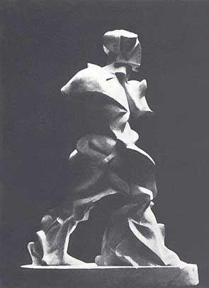 """Umberto Boccioni, """"Espansione spiralica di muscoli in movimento"""", 1913, scultura distrutta"""