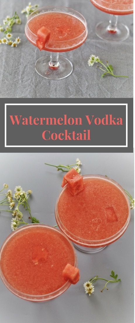 Watermelon Vodka Cocktail The flavor is perfectly summery and fresh with the freshness of watermelon and the right amount of vodka. But don't restrain yourself from adding more vodka as per your taste. The rule is there are no rules when it comes to mixing cocktails.