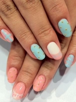Colorful Nail Art - Colorful and Simple Nail Design Ideas
