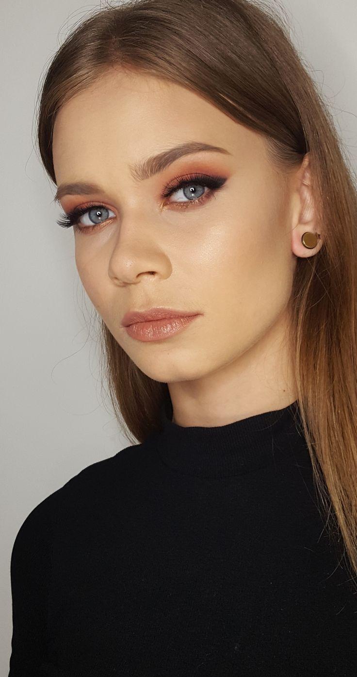 date makeup sexy makeup  blue eyes makeup  warm colours