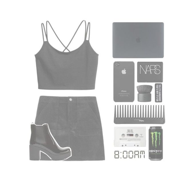 """""""straight lines, they unwind you"""" by themusiccookie ❤ liked on Polyvore featuring Incase, Sephora Collection, NARS Cosmetics and Prada"""