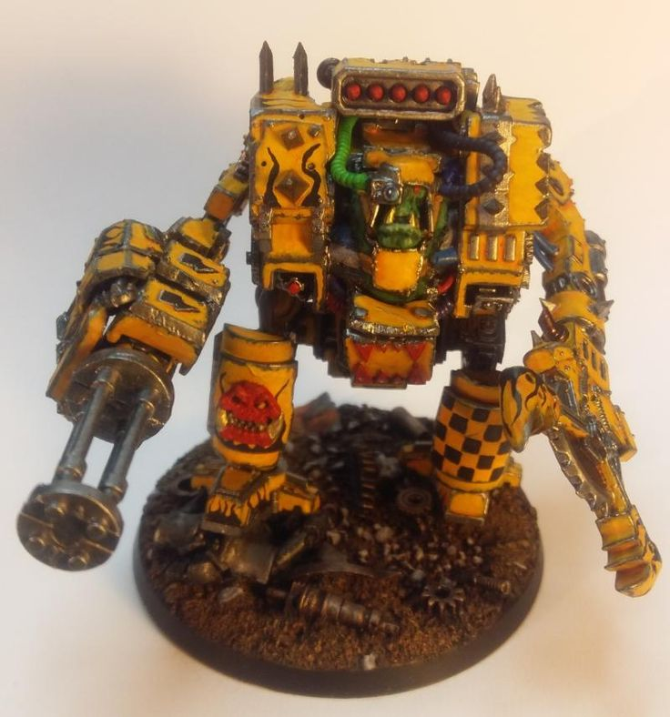 Bad Moons, Dreadnought, Orks By Midget Gems
