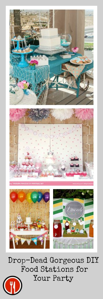Exceptionnel Drop Dead Gorgeous DIY Food Stations For Your Party
