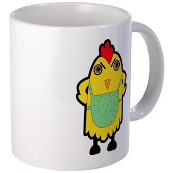 Angry Chicken Mugs A cute image of an angry chicken with apron which reminds you of a protective mother hen. http://www.cafepress.com/cookieprintshirts.1266771964