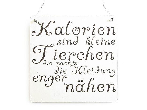 """XL Vintage DEKO Schild Shabby """"KALORIEN SIND...."""""""