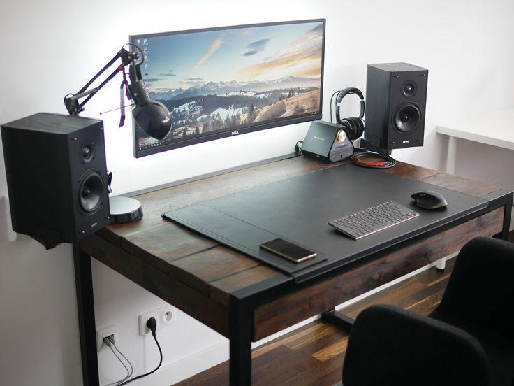 The Minimal Floating Monitor Workspace. Computer SetupGaming DeskGaming ...