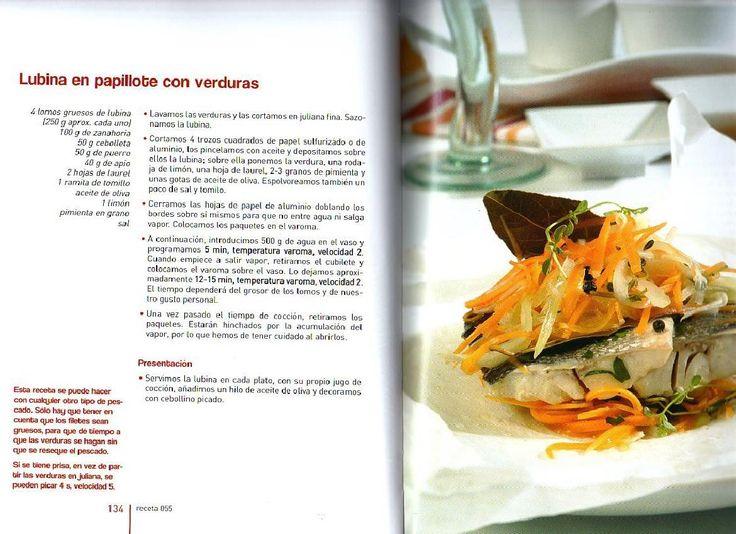 ARCHIVO DE RECETAS THERMOMIX: LUBINA EN PAPILLOTE CON VERDURAS