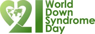 World Down Syndrome Day takes place on 21 March every year. This date (21/3) represents the 3 copies of chromosome 21, which is unique to people with Down syndrome.  My daughter rocks her extra chromosome-love her with all my ♥!!!