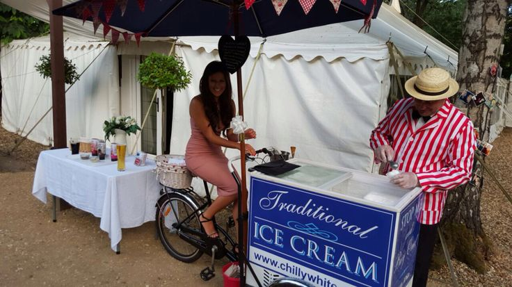 Vintage Ice Cream Trike by Chilly White