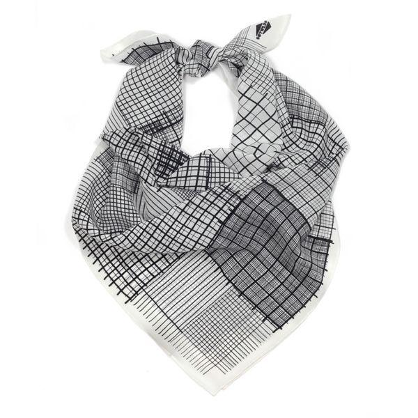 "SuTurno ""Notas b&w"" silk scarf / http://shop.suturno.net/product/notas-b-w-scarf"