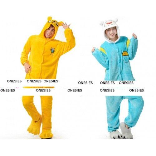 Adventure Time Tijd voor Avontuur Jack en Finn Onesies Kigurumi Slaap Pak Huispak: http://www.onesies-kigurumi.nl/