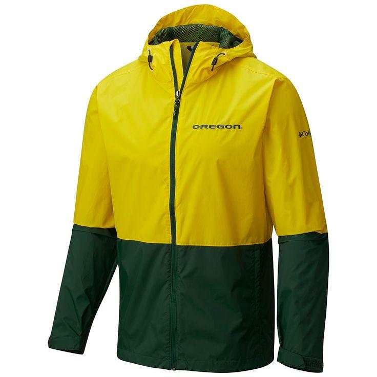 Men's Columbia Oregon Ducks Roan Mountain Jacket, Size: Medium, Yellow Oth
