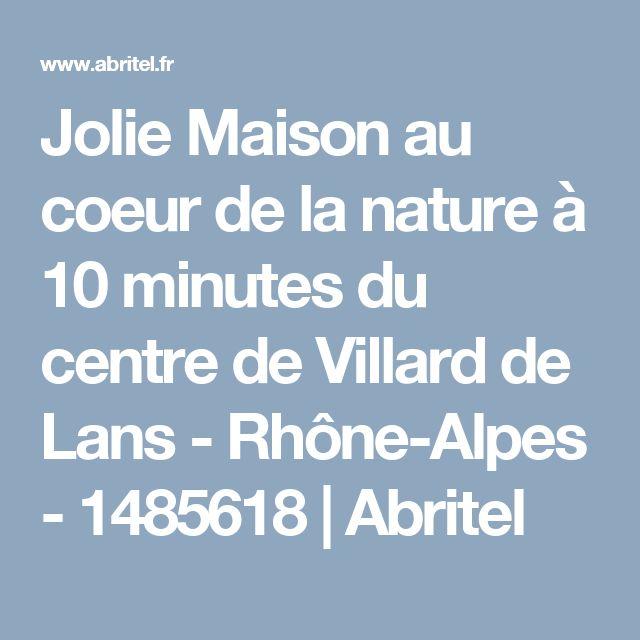 Jolie Maison au coeur de la nature à 10 minutes du centre de Villard de Lans - Rhône-Alpes - 1485618 | Abritel