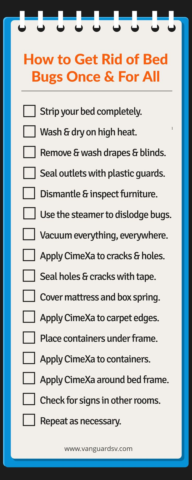 Janitorial Services Tips to get rid of Bed Bugs - Infographic - Fresno - Visalia - Tulare - Clovis - Kingsburg