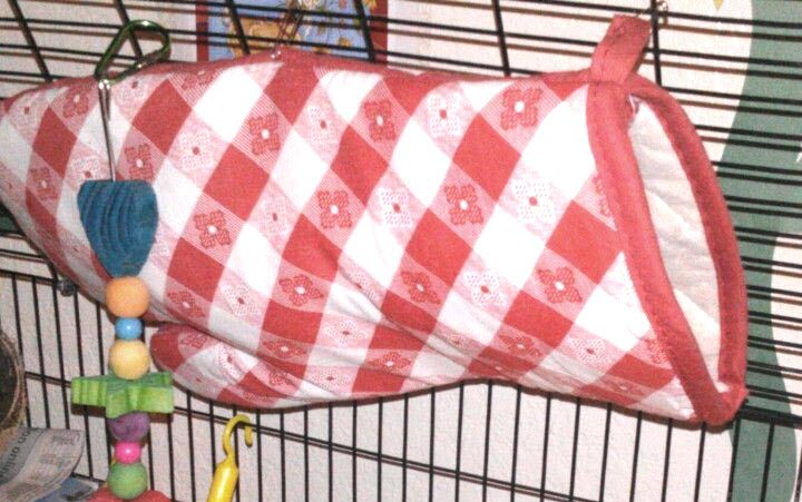 Oven Mitt Rat Hammock - You can usually find a pair of oven mitts at the dollar store. PetDIYs.com