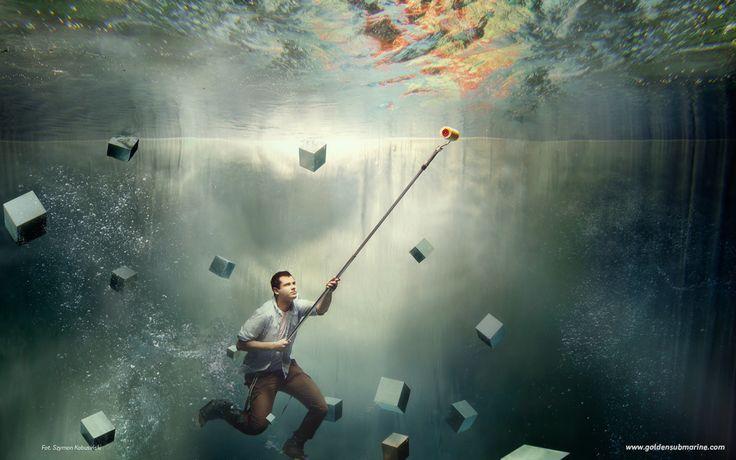 underwater, painting, space