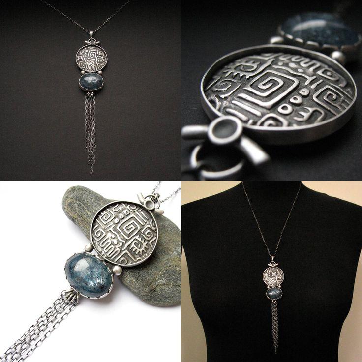 Ichtaca - silver pendant with kyanite by Anna Fidecka
