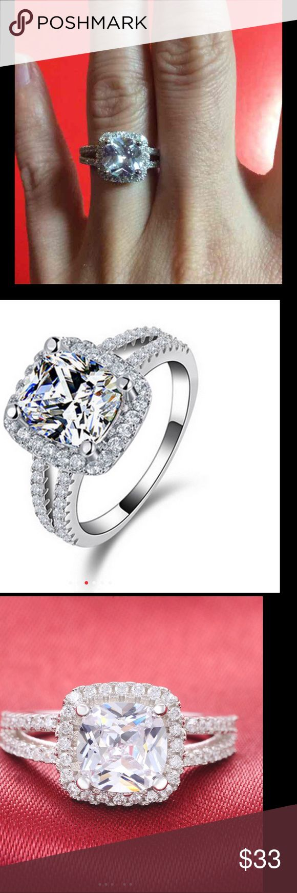 (Size 5) silver engagement ring 925 Sterling Silver Ring Engagement O Finger anel aneis de diamante CZ Diamond for Women Wedding Jewelry Pure Jewelry Rings