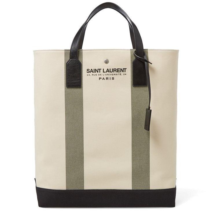 Saint Laurent Beach Shopping Tote Bag (Ecru) | Mens | Pinterest ...