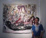 "with ""Dustography"" http://www.maiaoprea.ro/en/projects/2012/dust/paintings"