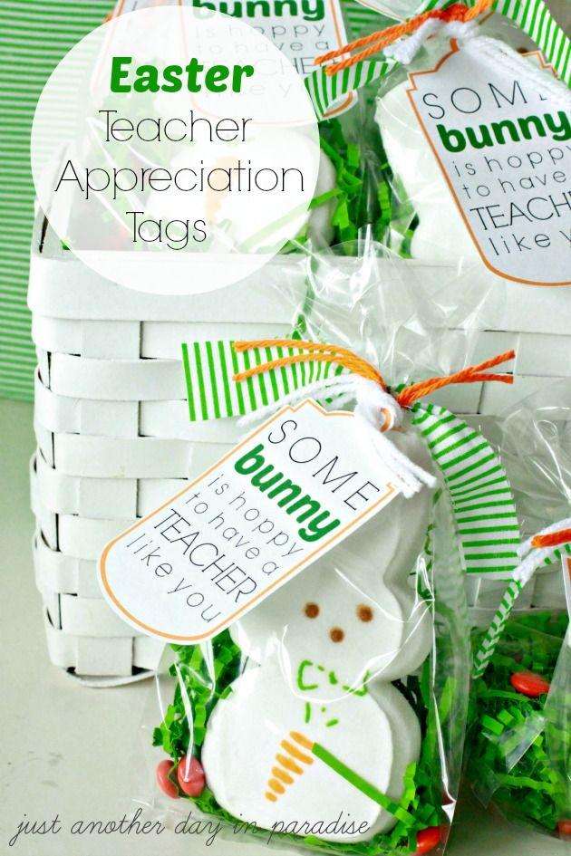 Easter Teacher Appreciation Tags #teacherappreciation
