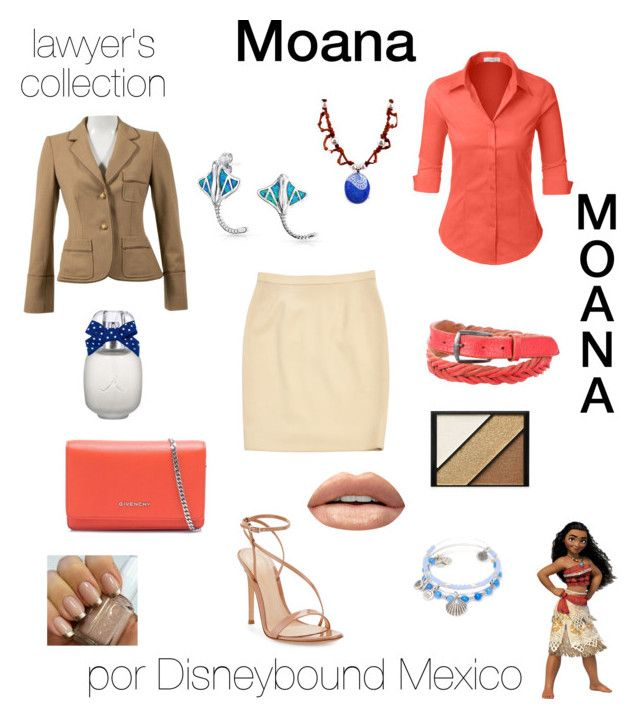 """Moana"" by disneybound-mexico on Polyvore featuring Buy Seasons, Chanel, Disney, Gianvito Rossi, Philosophy di Alberta Ferretti, Givenchy, Bling Jewelry, LE3NO, Golden Goose and Huda Beauty"