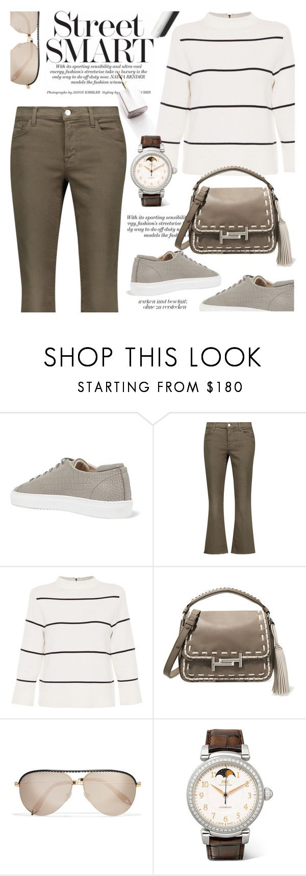 """""""comfy casual"""" by cilita-d ❤ liked on Polyvore featuring Axel Arigato, J Brand, L.K.Bennett, Tod's, Victoria Beckham, IWC Schaffhausen, Garance Doré and handlebag"""