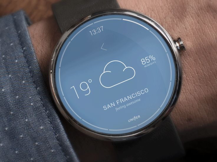 Droid Smartwatch Weather app