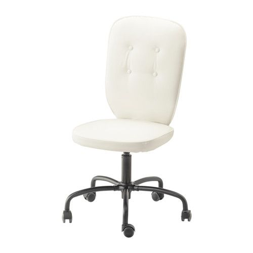 IKEA LILLHÖJDEN Swivel chair Blekinge white You sit comfortably since the chair is adjustable in height.