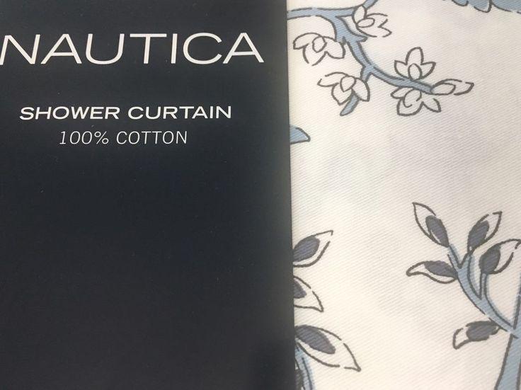 "Nautica Shower Curtain 72"" x 72"" 100% Cotton #Nautica #Shower #Curtain #Bathroom #Decoration #ShowerCurtain #Cotton #Floral"