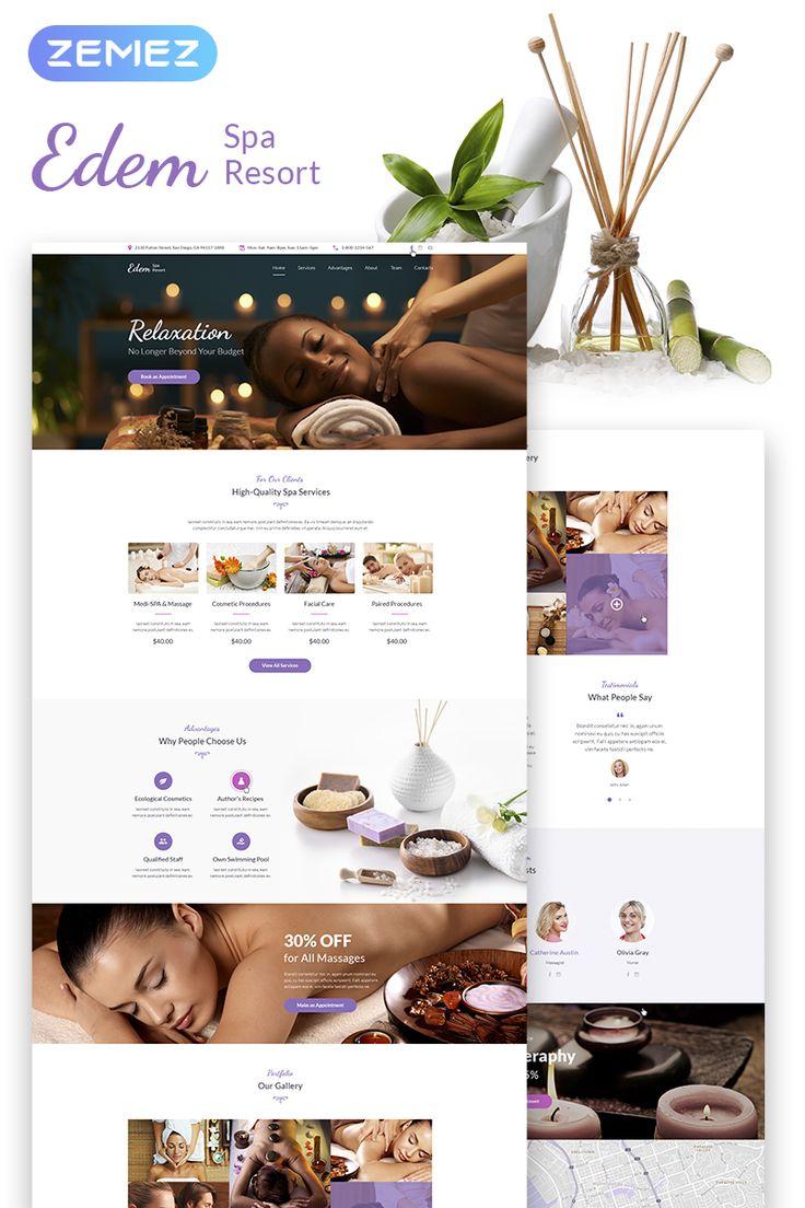 Edem - Sophisticated Beauty Salon WordPress Theme #67555