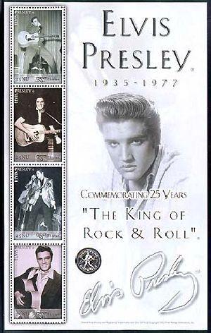 Elvis Presley stamps : Bhutan ELVIS PRESLEY 25TH ANNIVERSARY OF DEATH ...