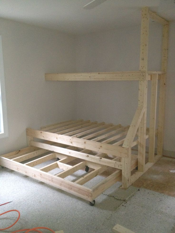 1626 best bunk bed ideas images on pinterest bunk beds for How to make a loft room