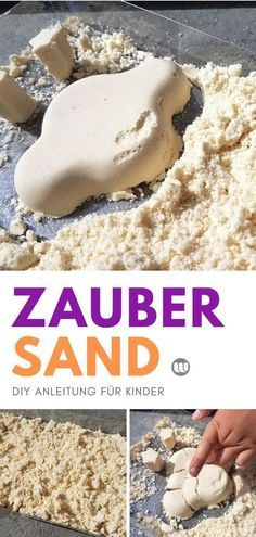 Mondsand DIY Instructions: make magic sand for children and toddlers themselves