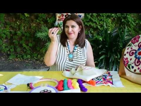 Que Materiales Necesito Para Bordado Mexicano Principiantes - YouTube